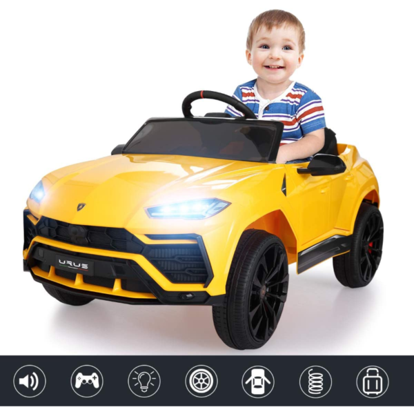 12V Lamborghini Licensed Electric Kids Ride on Car with Remote Control, Yellow 下载 1 1