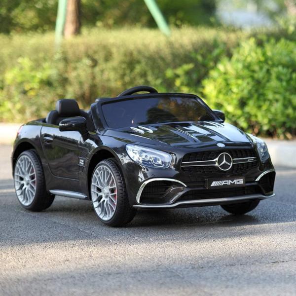 12V Mercedes Benz Licensed Kids Ride On Car with Remote Control, Black 下载 1 3