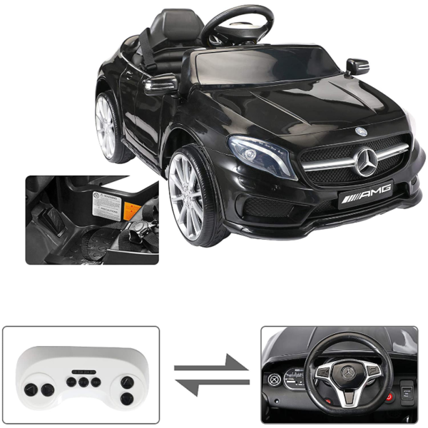 Mercedes Benz Licensed Electric Kids Ride on Cars Remote Control, Black 下载 14 1