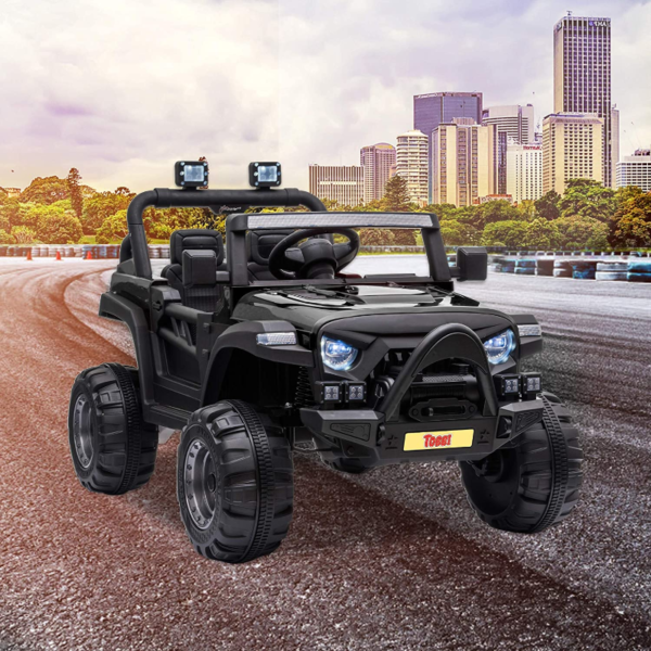 12V Electric Kids Ride On Truck with Remote Control, Black 下载 14