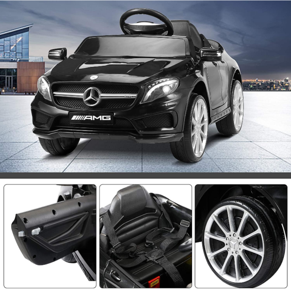 Mercedes Benz Licensed Electric Kids Ride on Cars Remote Control, Black 下载 15 1