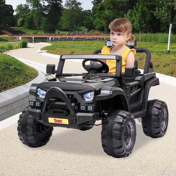 12V Electric Kids Ride On Truck with Remote Control, Black 下载 15