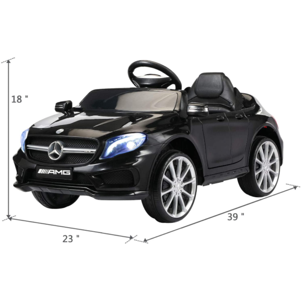 Mercedes Benz Licensed Electric Kids Ride on Cars Remote Control, Black 下载 18 2