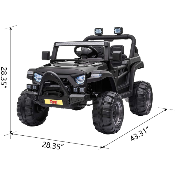 12V Electric Kids Ride On Truck with Remote Control, Black 下载 19 1