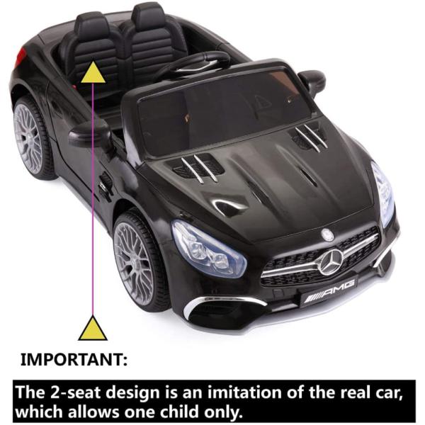 12V Mercedes Benz Licensed Kids Ride On Car with Remote Control, Black 下载 2 4