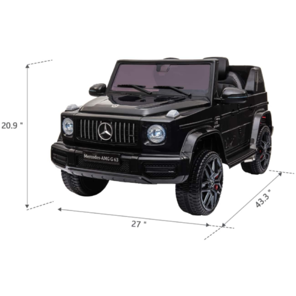 12V Mercedes-Benz AMG G63 Kids Ride On Cars Toys with Remote Control, Black 下载 2