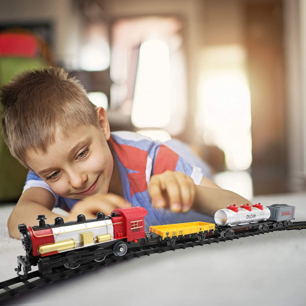 Battery-Powered Electric Train Toys with Sounds Include Cars and Tracks for Kids 下载 20 1