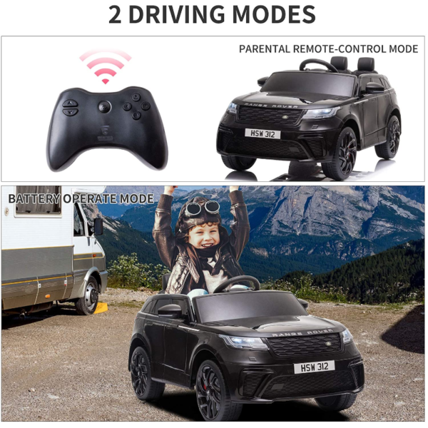 12V Land Rover Licensed Electric Kids Ride On Car with Remote Control, Black 下载 20 2