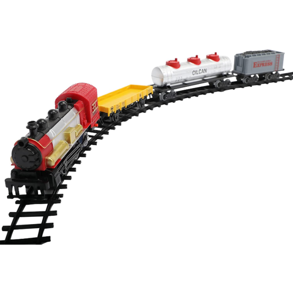 Battery-Powered Electric Train Toys with Sounds Include Cars and Tracks for Kids 下载 21 1