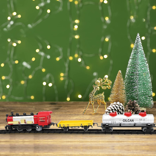 Battery-Powered Electric Train Toys with Sounds Include Cars and Tracks for Kids 下载 22 1