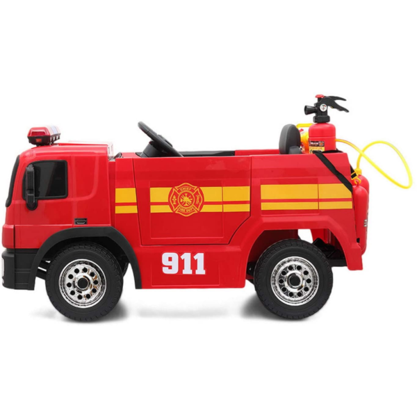 12V Kids Ride on Toys Fire Truck Real Driving Experience with Remote Control, Red 下载 22 2