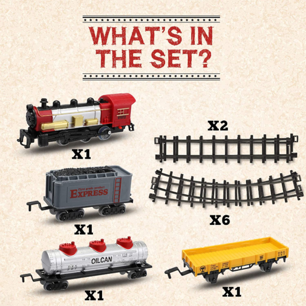 Battery-Powered Electric Train Toys with Sounds Include Cars and Tracks for Kids 下载 23 1