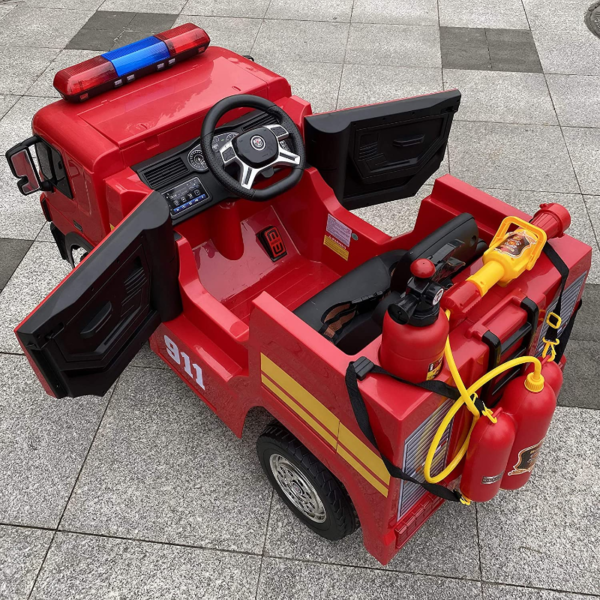 12V Kids Ride on Toys Fire Truck Real Driving Experience with Remote Control, Red 下载 23 2