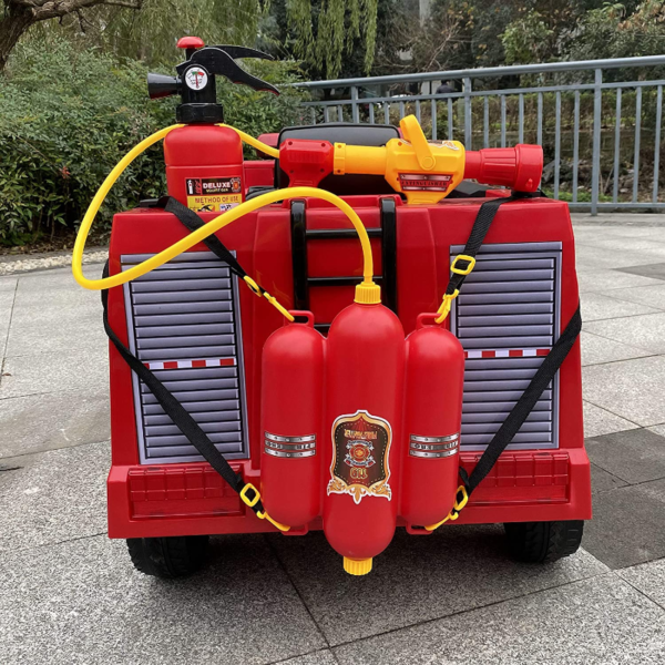 12V Kids Ride on Toys Fire Truck Real Driving Experience with Remote Control, Red 下载 24 1