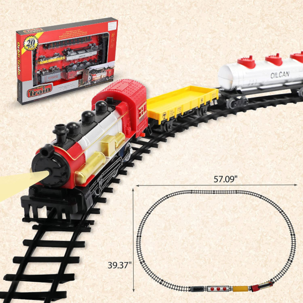 Battery-Powered Electric Train Toys with Sounds Include Cars and Tracks for Kids 下载 24