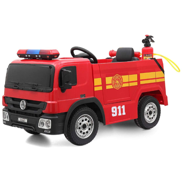 12V Kids Ride on Toys Fire Truck Real Driving Experience with Remote Control, Red 下载 25 2
