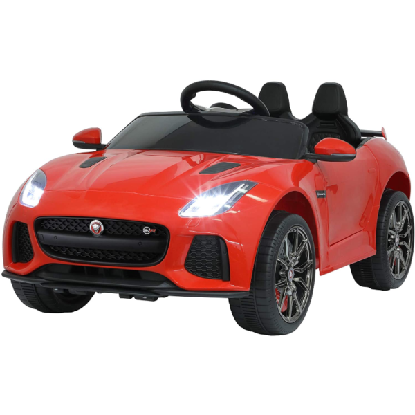 Jaguar F-Type SVR Kids Electric Ride on Car Toy with Dual Motor, Red 下载 25