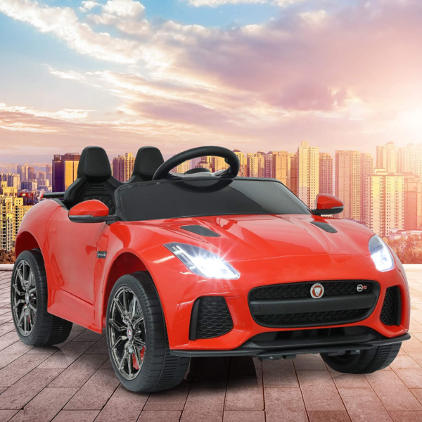 Jaguar F-Type SVR Kids Electric Ride on Car Toy with Dual Motor, Red 下载 26
