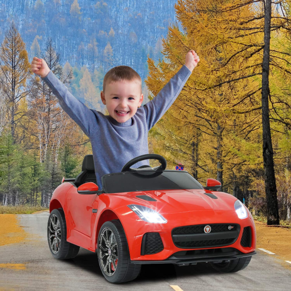 Jaguar F-Type SVR Kids Electric Ride on Car Toy with Dual Motor, Red 下载 27