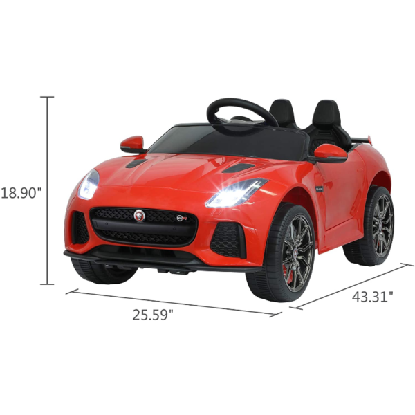 Jaguar F-Type SVR Kids Electric Ride on Car Toy with Dual Motor, Red 下载 28