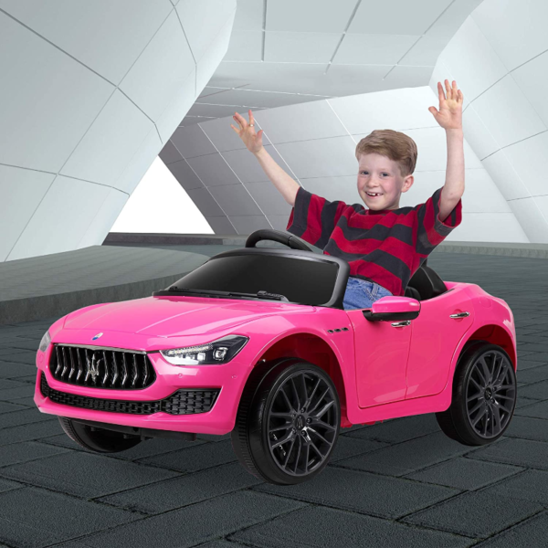 12V Maserati Licensed Kids Ride On Car with Remote Control, Pink 下载 29 2
