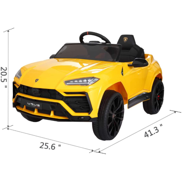 12V Lamborghini Licensed Electric Kids Ride on Car with Remote Control, Yellow 下载 3 2