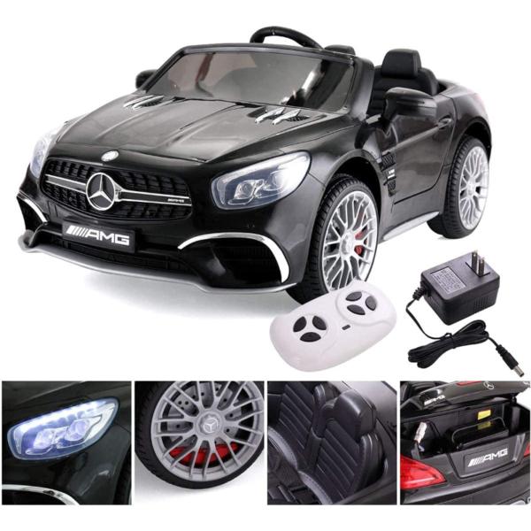 12V Mercedes Benz Licensed Kids Ride On Car with Remote Control, Black 下载 3 4