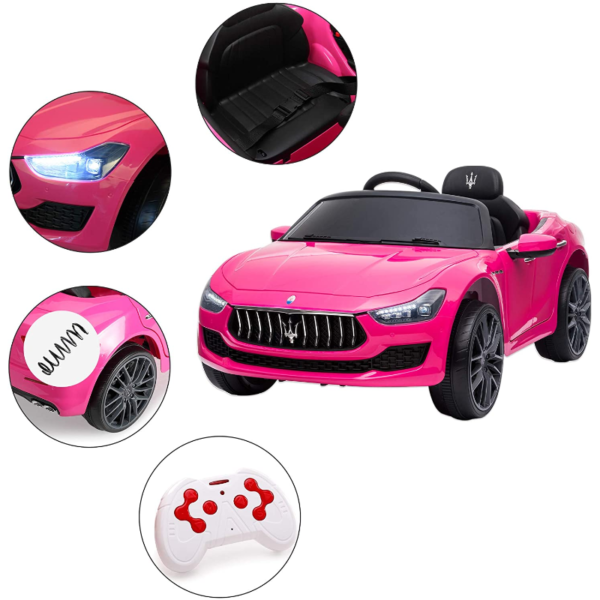 12V Maserati Licensed Kids Ride On Car with Remote Control, Pink 下载 30 2