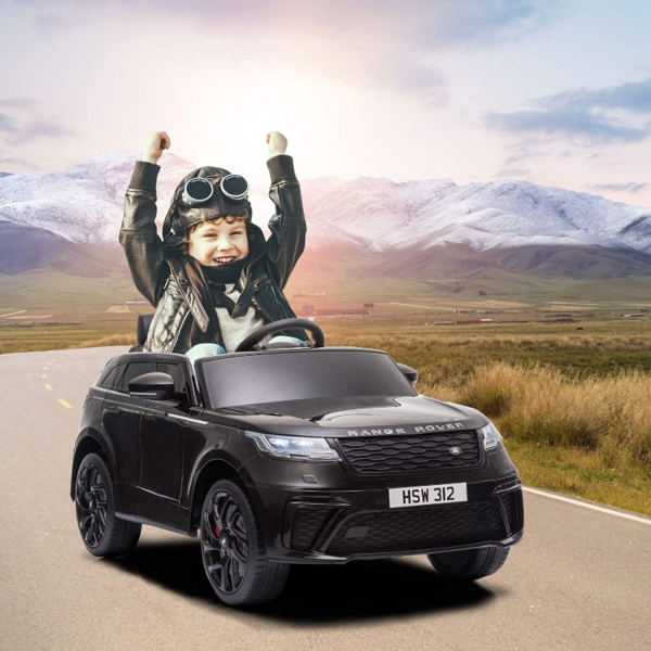 12V Land Rover Licensed Electric Kids Ride On Car with Remote Control, Black 下载 34