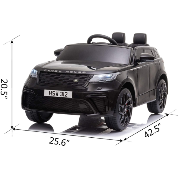 12V Land Rover Licensed Electric Kids Ride On Car with Remote Control, Black 下载 38