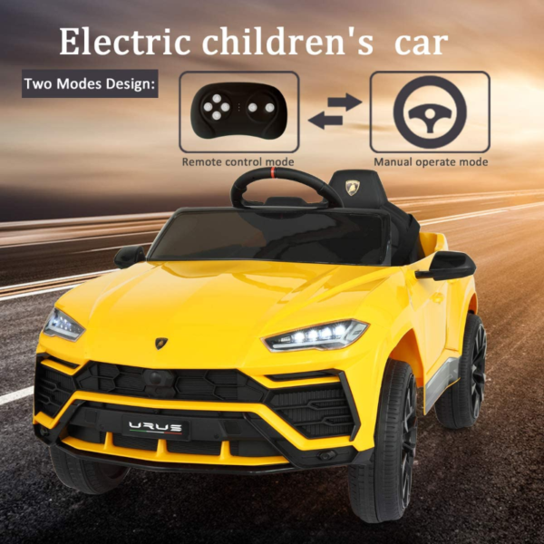 12V Lamborghini Licensed Electric Kids Ride on Car with Remote Control, Yellow 下载 4 2