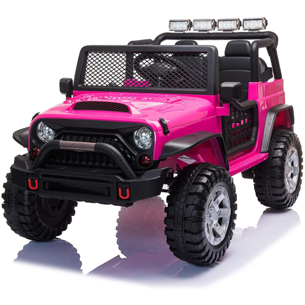 12V Electric Vehicles Ride On Truck for Kids with Remote Control, Rose Red 下载 4 3