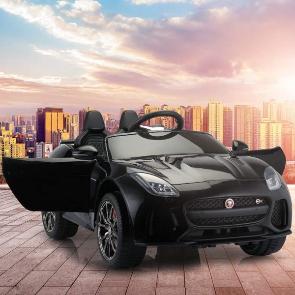 Jaguar F-Type SVR Kids Electric Ride on Car Toy with Dual Motor, Black 下载 40