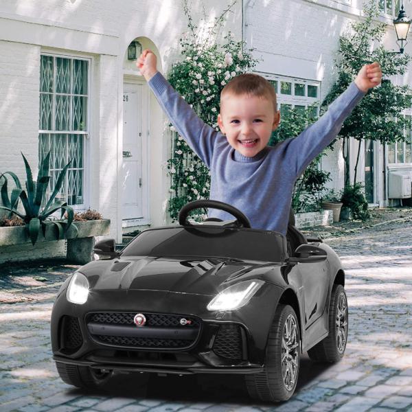 Jaguar F-Type SVR Kids Electric Ride on Car Toy with Dual Motor, Black 下载 41