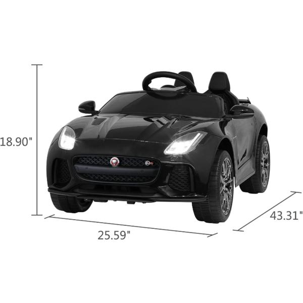 Jaguar F-Type SVR Kids Electric Ride on Car Toy with Dual Motor, Black 下载 42