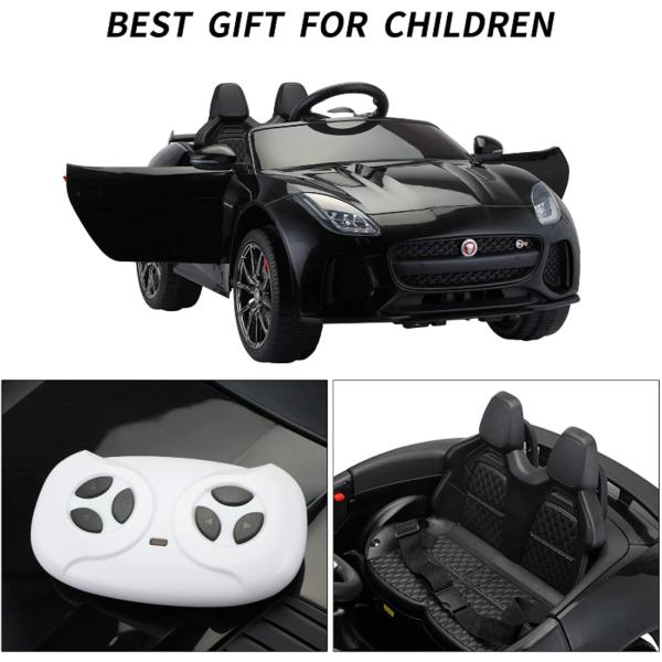 Jaguar F-Type SVR Kids Electric Ride on Car Toy with Dual Motor, Black 下载 44