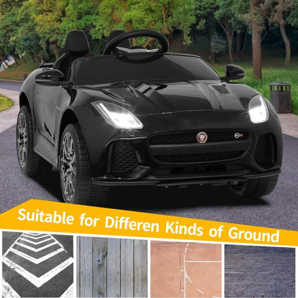 Jaguar F-Type SVR Kids Electric Ride on Car Toy with Dual Motor, Black 下载 45