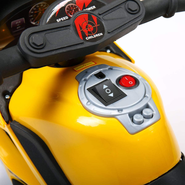 Electric Kids Ride On Police Motorcycle for 2-4 Years, Yellow 下载 48
