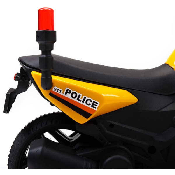 Electric Kids Ride On Police Motorcycle for 2-4 Years, Yellow 下载 49