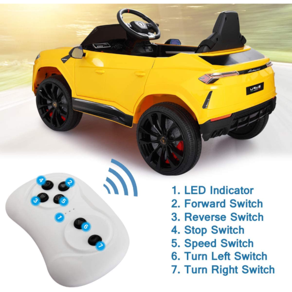 12V Lamborghini Licensed Electric Kids Ride on Car with Remote Control, Yellow 下载 5 2