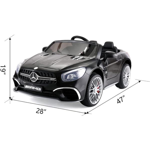 12V Mercedes Benz Licensed Kids Ride On Car with Remote Control, Black 下载 5 4
