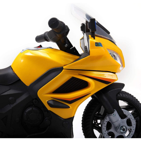 Electric Kids Ride On Police Motorcycle for 2-4 Years, Yellow 下载 50