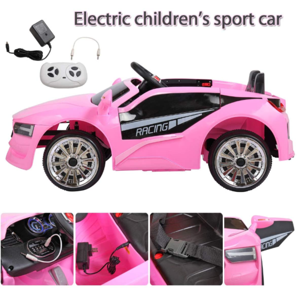 6V Kids Electric Ride On Racing Car with Remote Control, Pink 下载 53