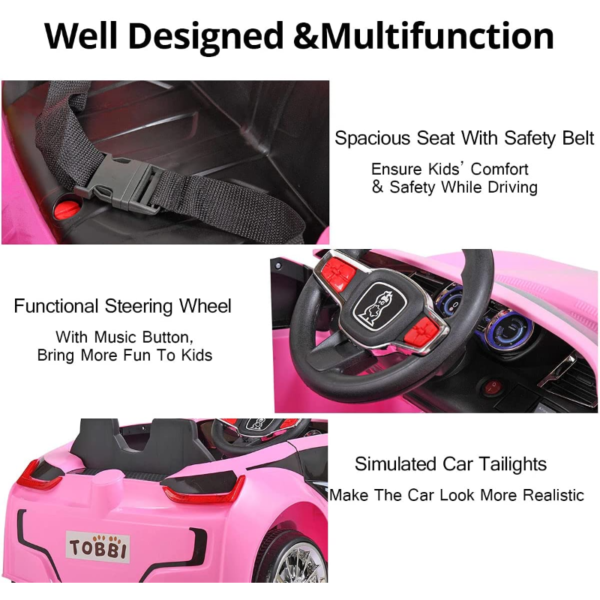 6V Kids Electric Ride On Racing Car with Remote Control, Pink 下载 54