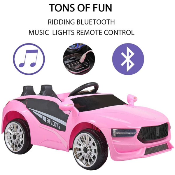 6V Kids Electric Ride On Racing Car with Remote Control, Pink 下载 55