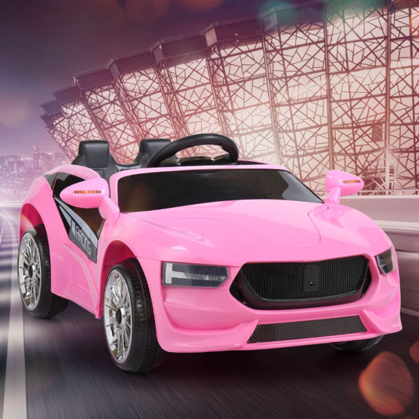 6V Kids Electric Ride On Racing Car with Remote Control, Pink 下载 56