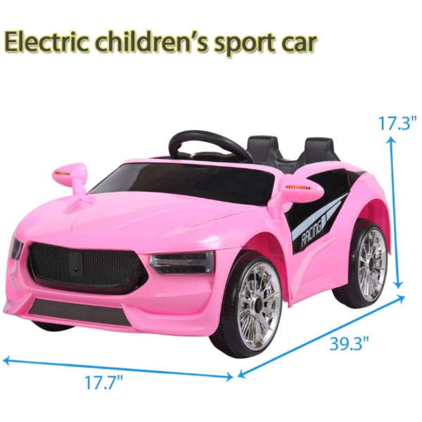 6V Kids Electric Ride On Racing Car with Remote Control, Pink 下载 58