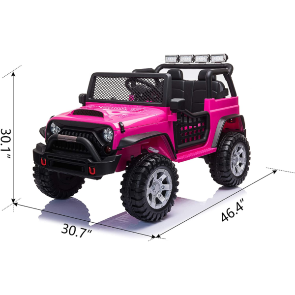 12V Electric Vehicles Ride On Truck for Kids with Remote Control, Rose Red 下载 6 2