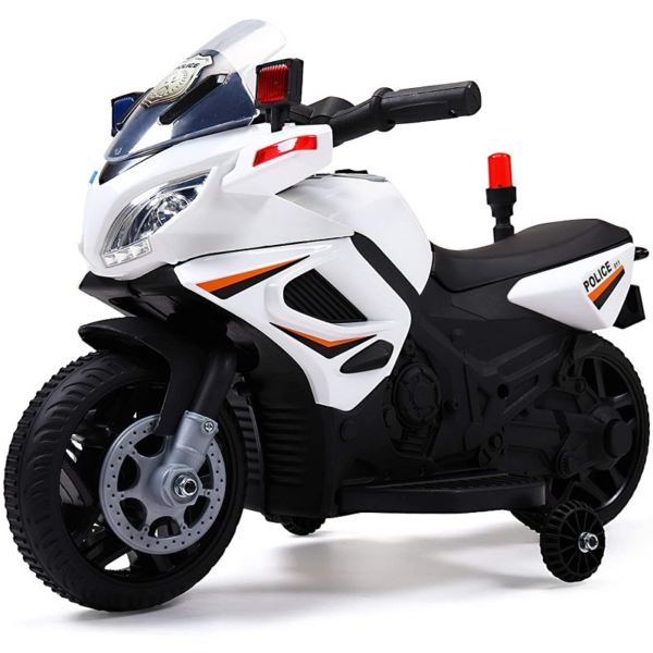 Electric Kids Ride On Police Motorcycle for 2-4 Years, White 下载 6 3