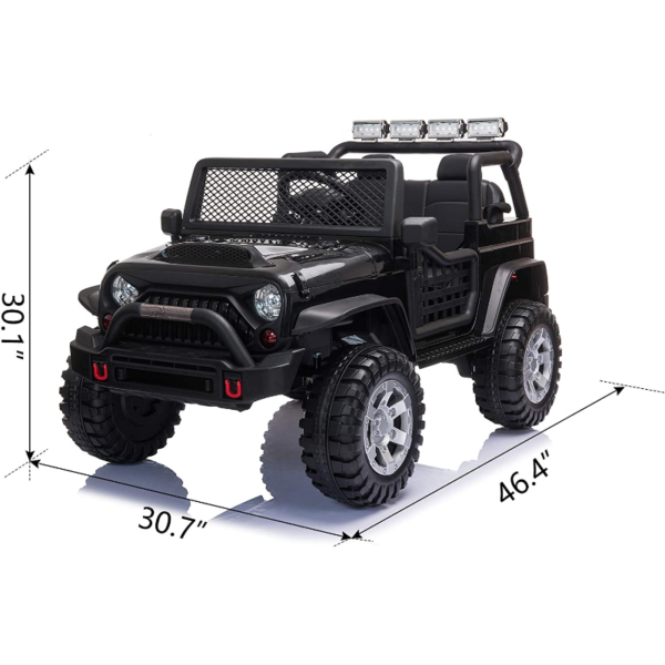 12V Electric Ride On Truck for Kids with Remote Control, Black 下载 61